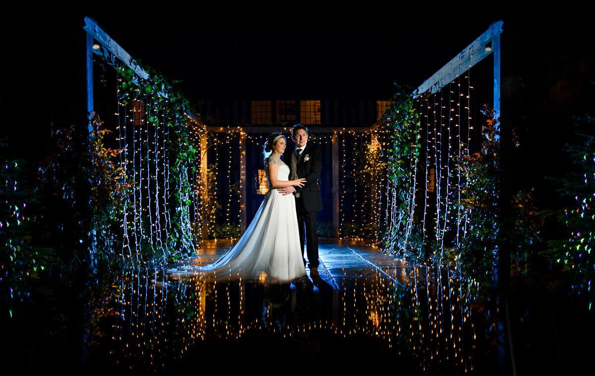 Brinsop court wedding portrait at Christmas