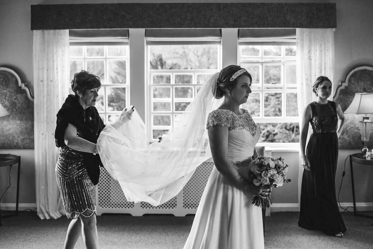 Bridal preparation at Brinsop court