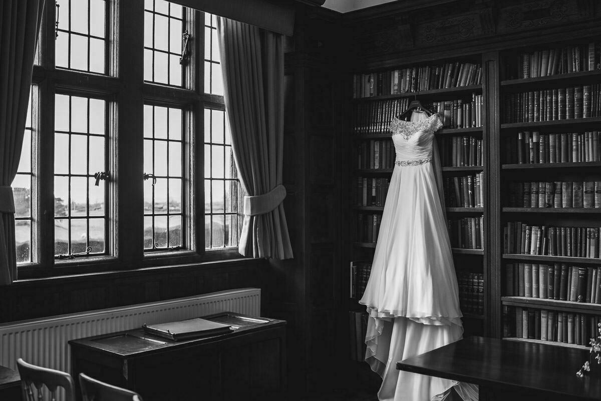 Wedding dress AT Brinsop court