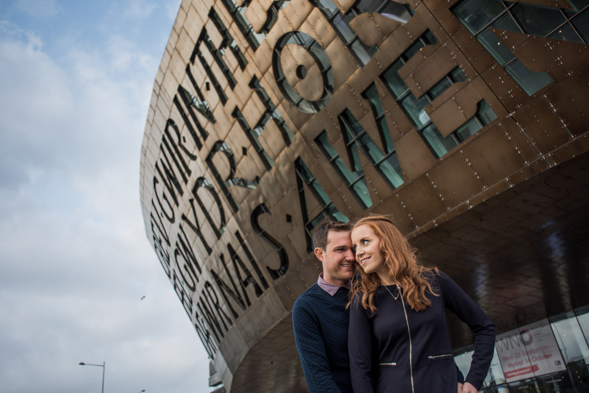 engagement shoot in Cardiff Wales