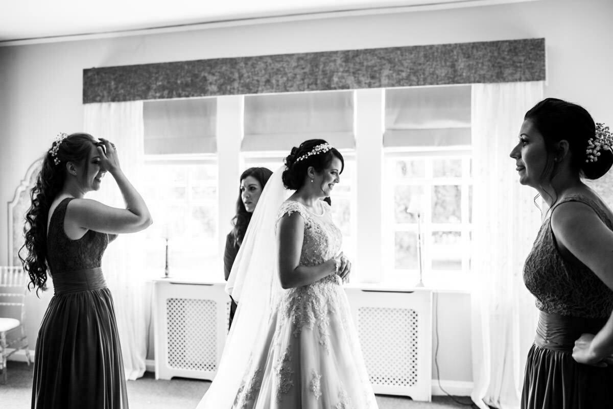 wedding morning at Brinsop court