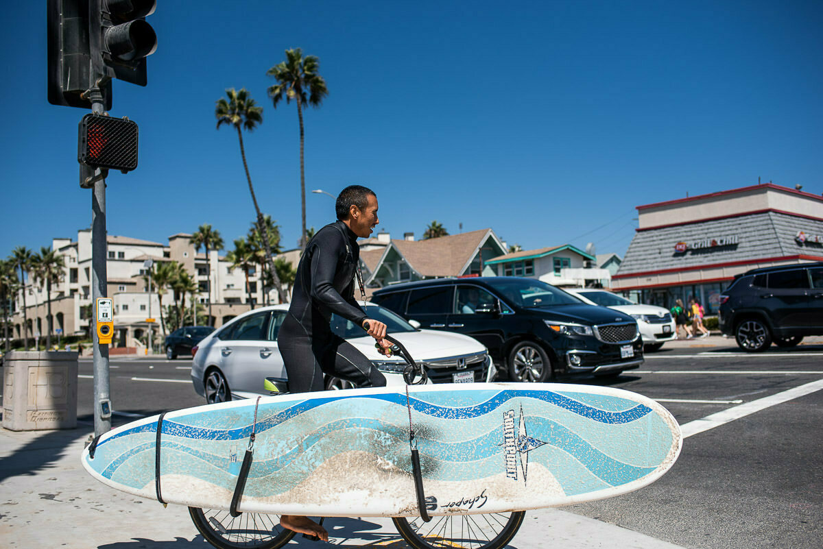 Surf dude at Huntington Beach