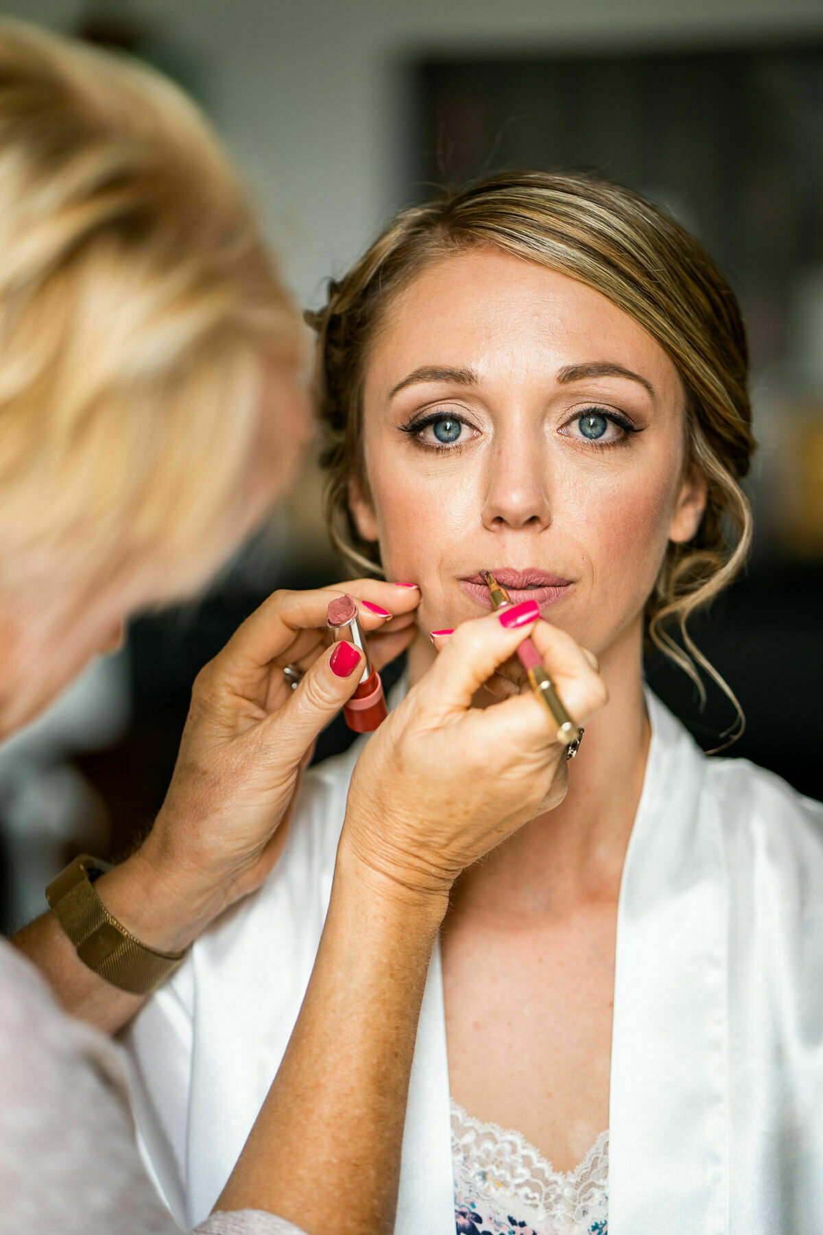 wedding make up at lyde court wedding