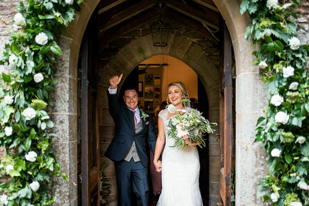 Herefordshire church wedding