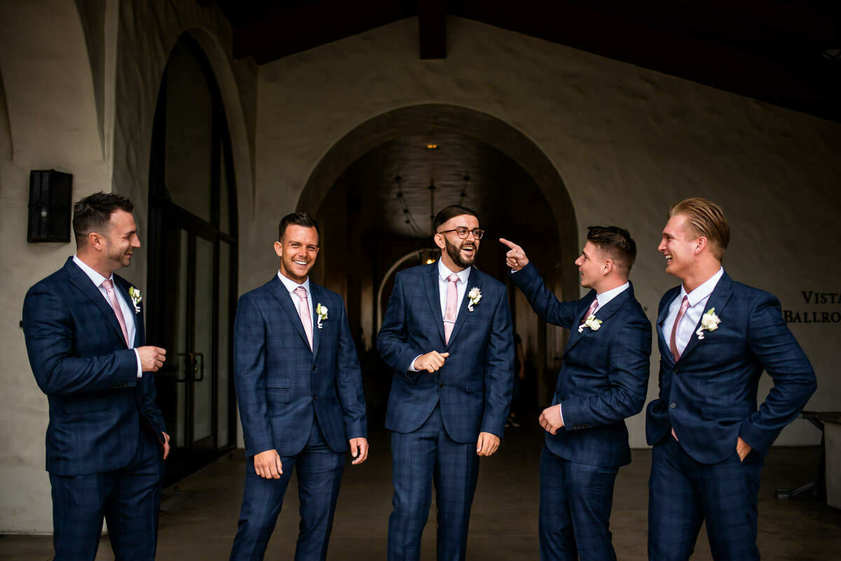 Groomsmen at Huntington Beach Wedding L.A