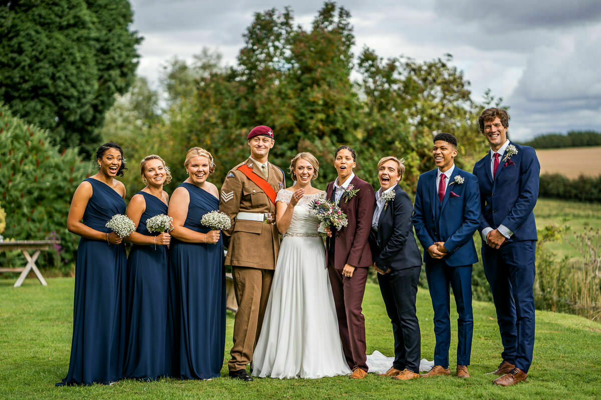 wedding party at lyde court