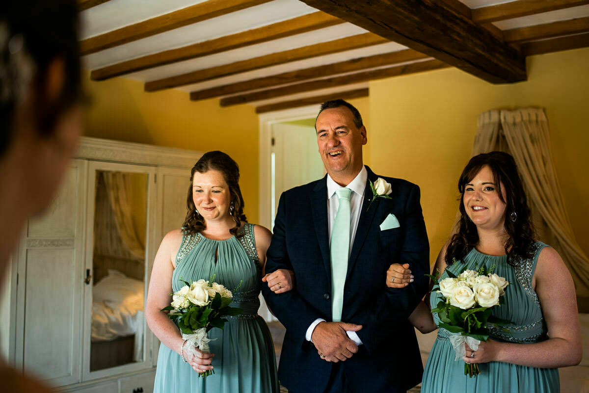 Father of the bride first look, Shropshire wedding