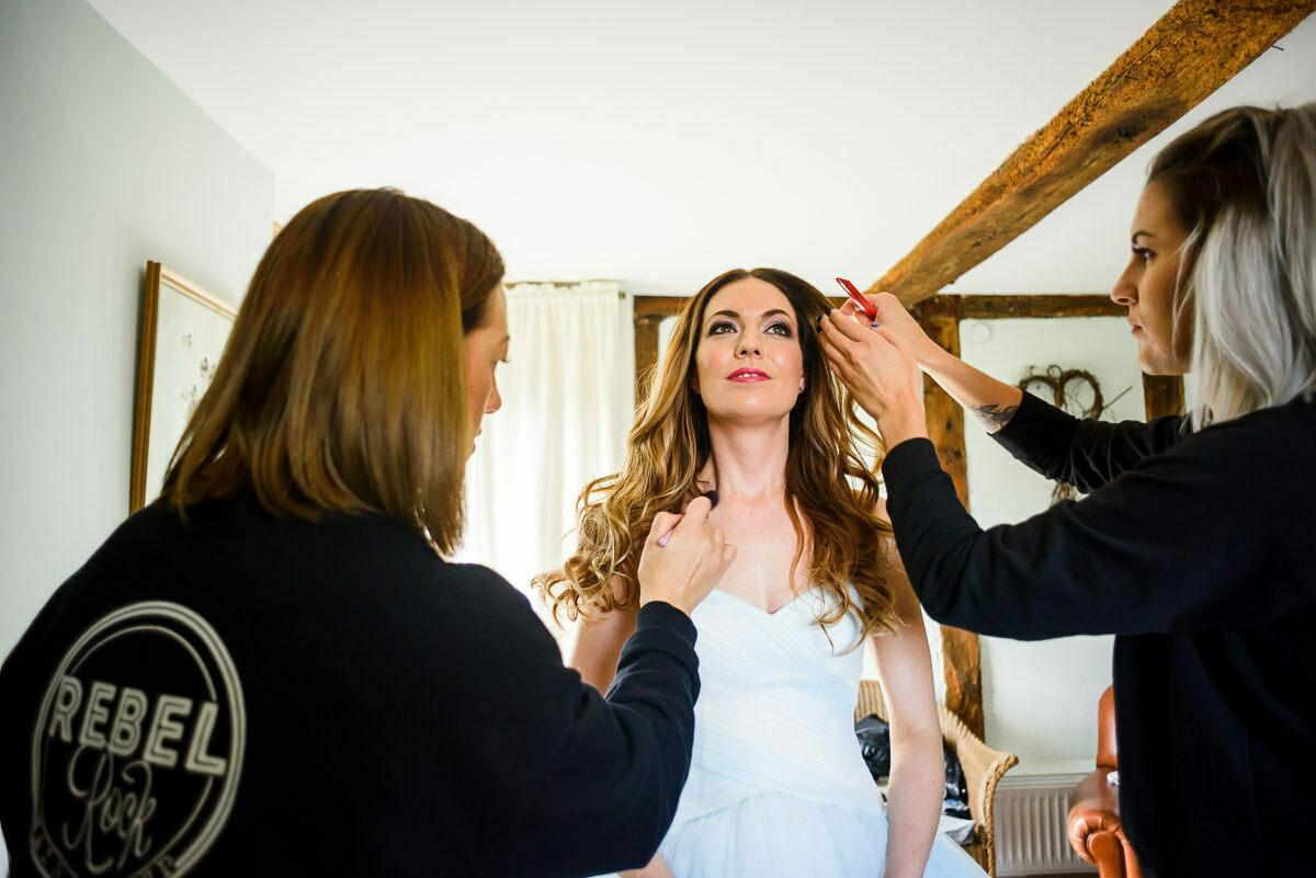 Rebel Rock Hair and Make up at Brinsop court wedding