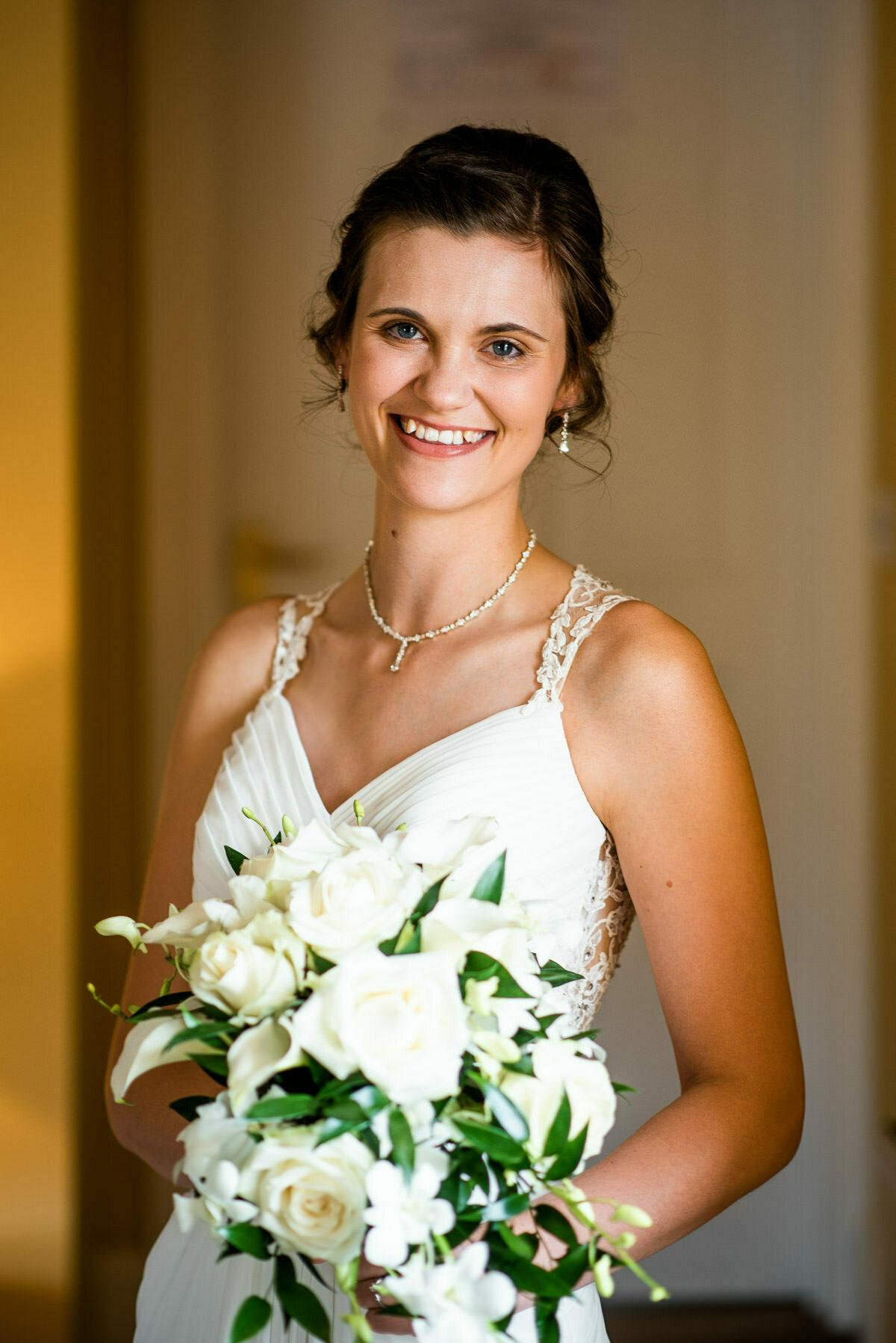 Wedding morning Delbury Hall, wedding flowers