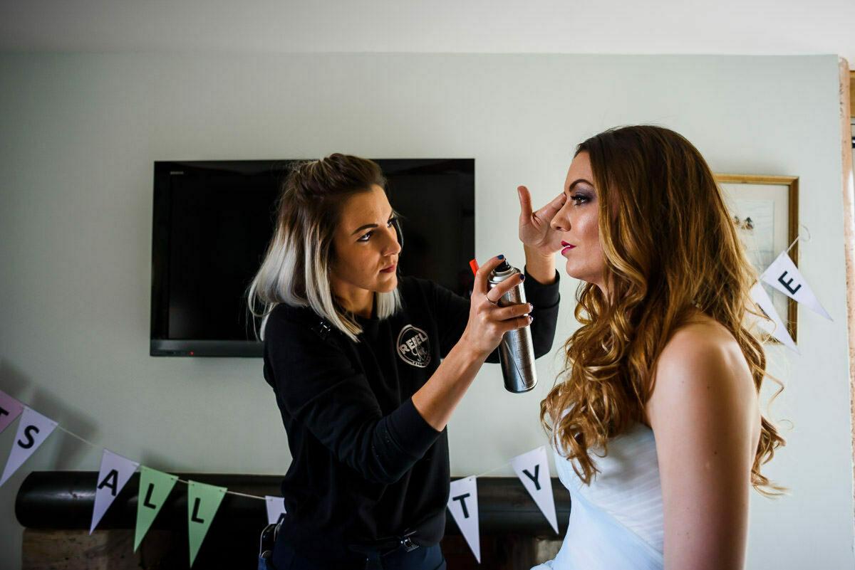 Wedding hair by rebel rock Hereford