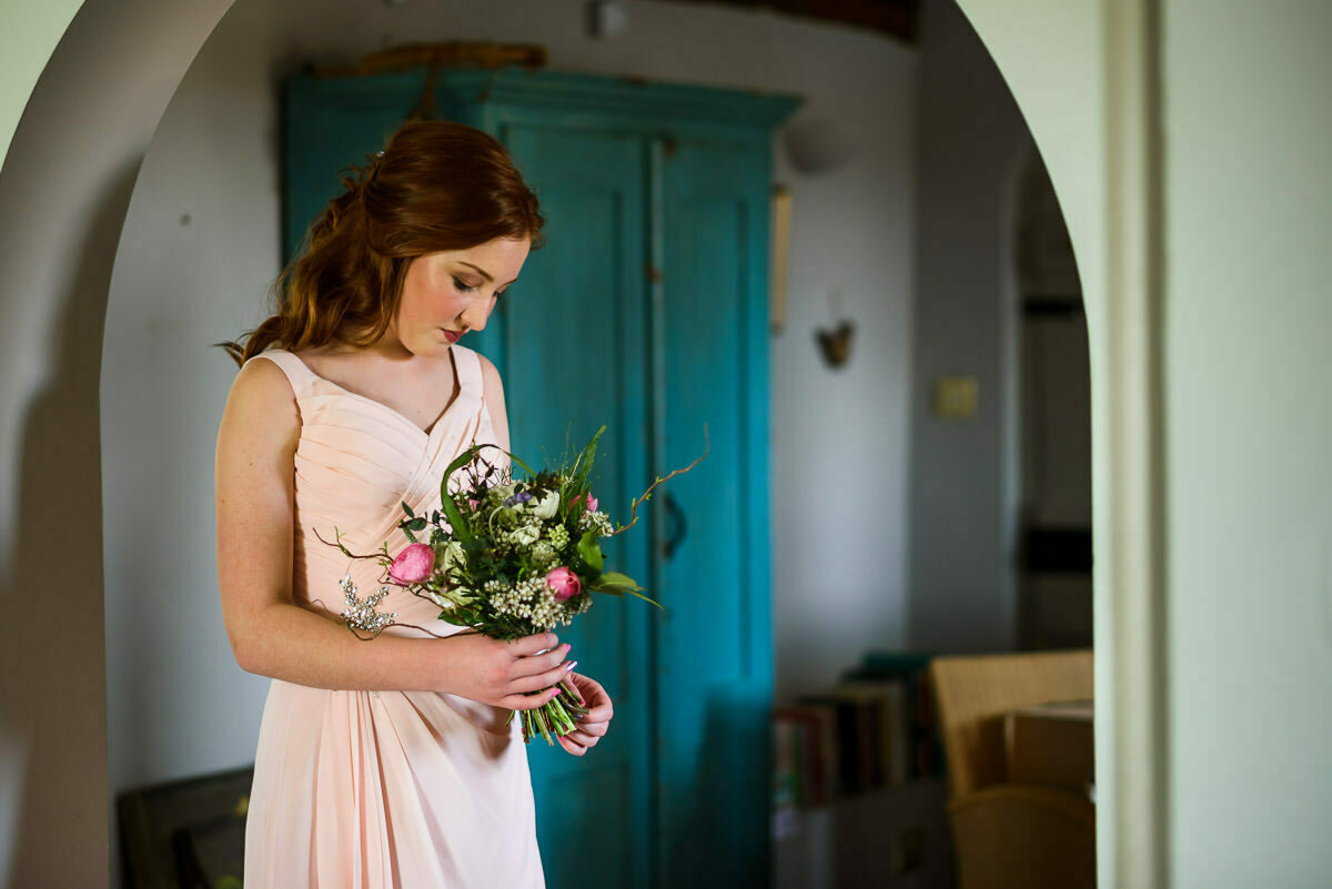 Bridesmaid at Brinsop court wedding