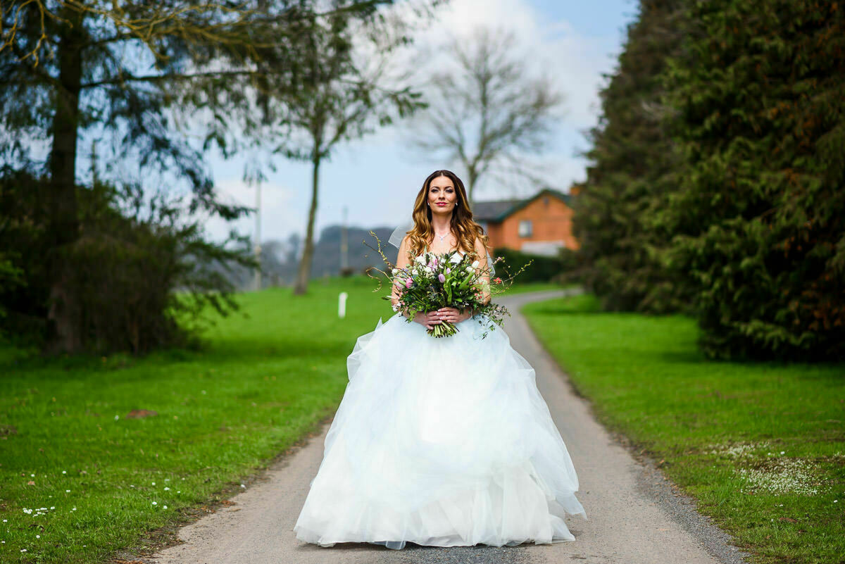 Bride to be at Brinsop court