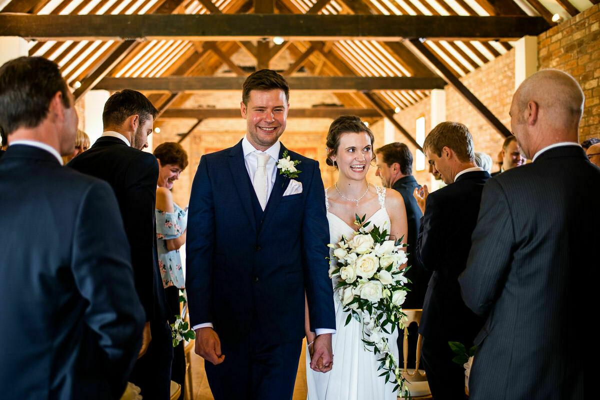 Wedding ceremony at Delbury Hall