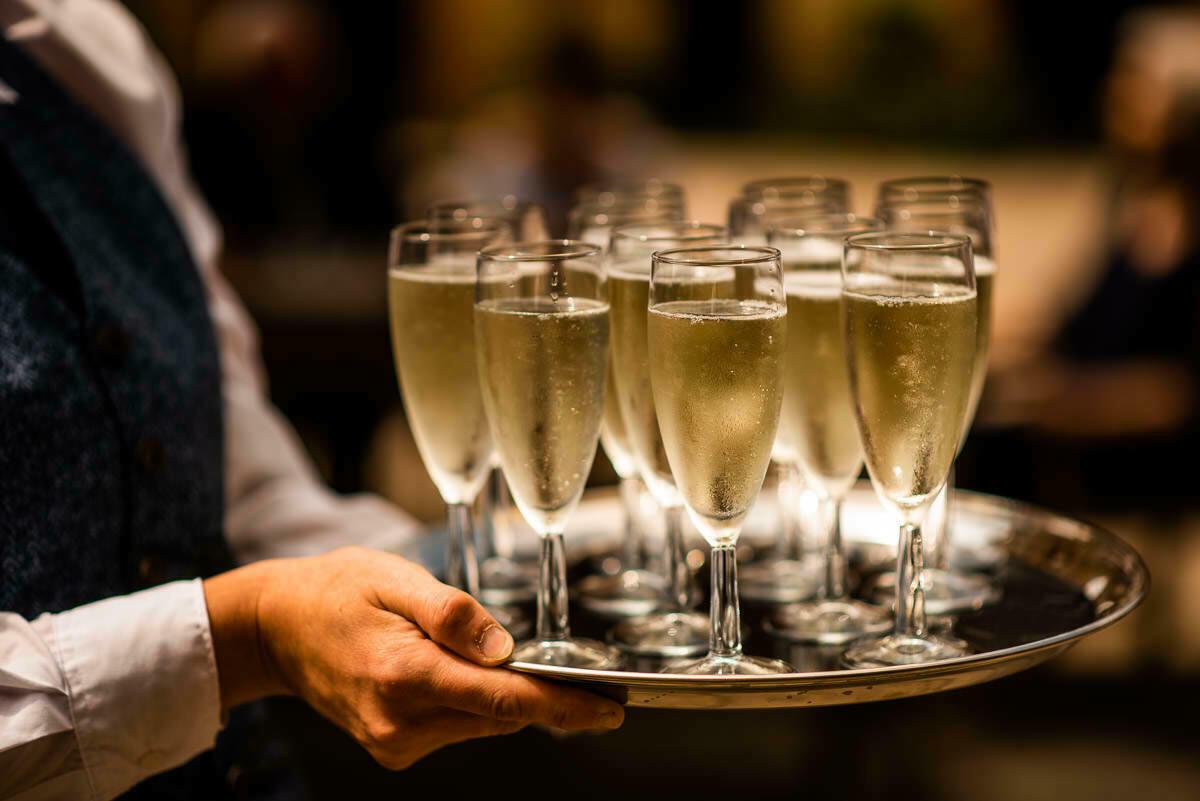 Champagne at Shropshire weddings