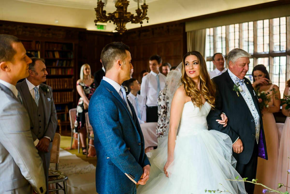Wedding ceremony at Brinsop Court