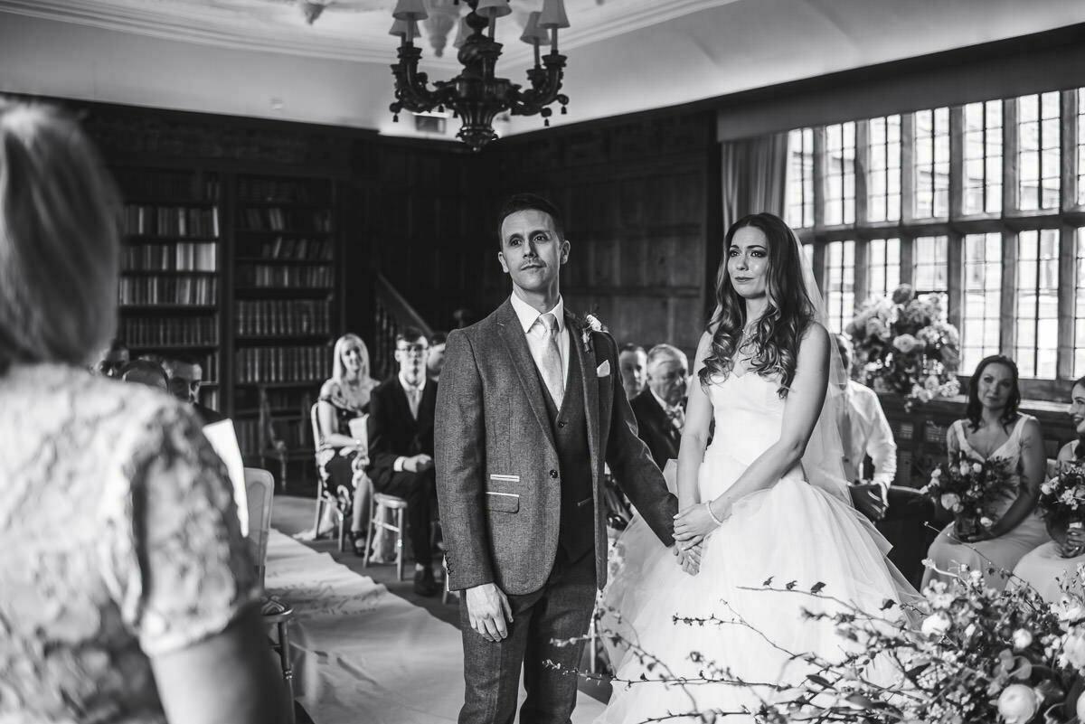 Wedding ceremony at Brinsop court Hereford