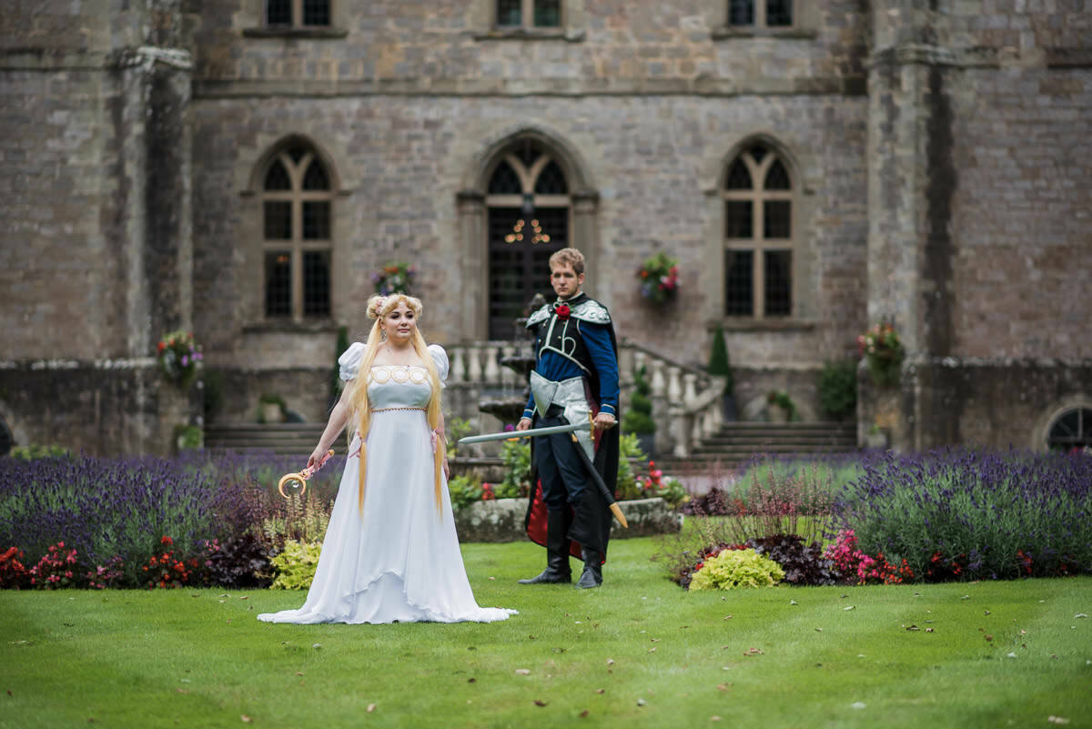 Clearwell castle, cosplay wedding, sailor moon
