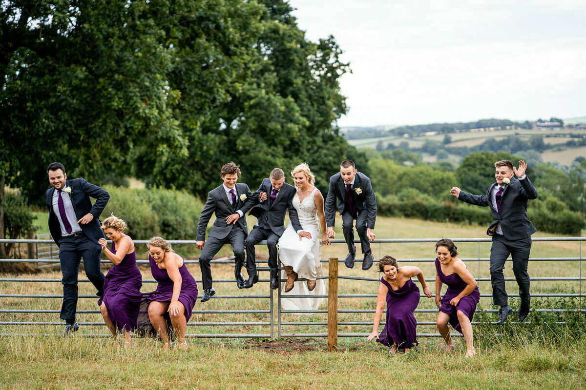 bridal party jump off gate