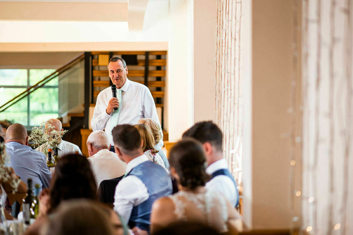 Father of the bride speech at Shropshire Wedding