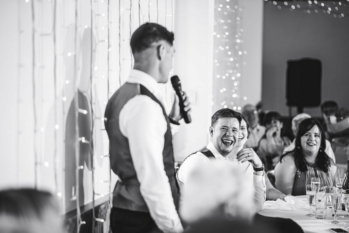 Speeches at Delbury Hall wedding