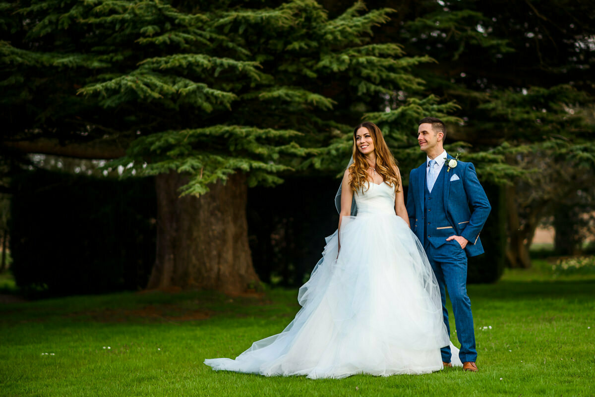 Bride and Groom at Brinsop court