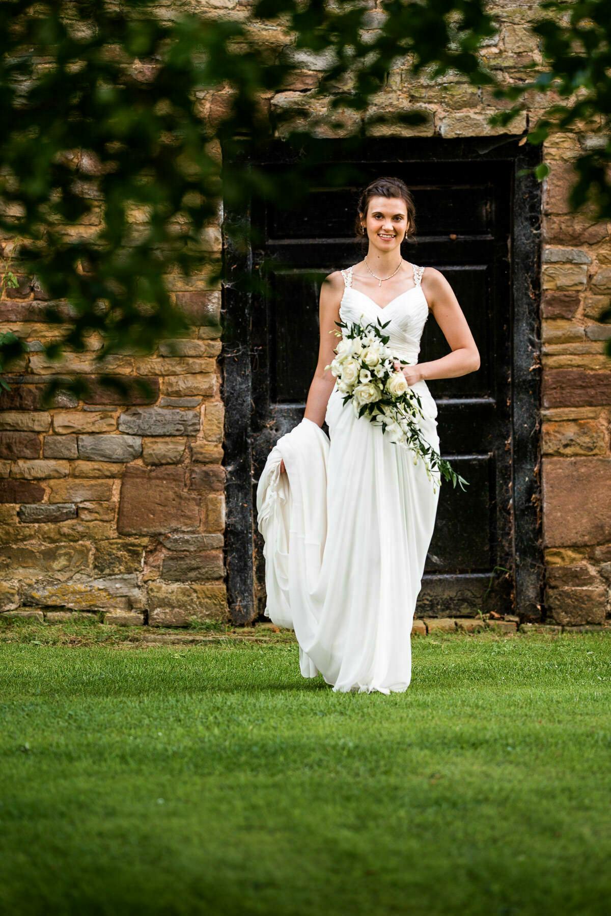 Bridal portrait, Delbury hall