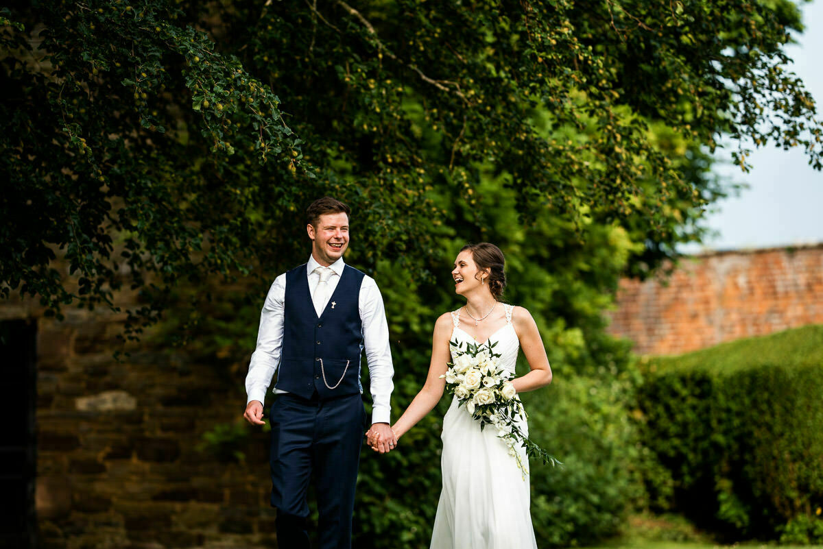 Just married at Delbury Hall wedding