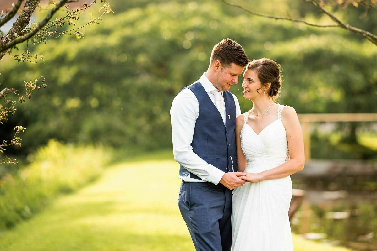 Bride and Groom at Delbury Hall wedding