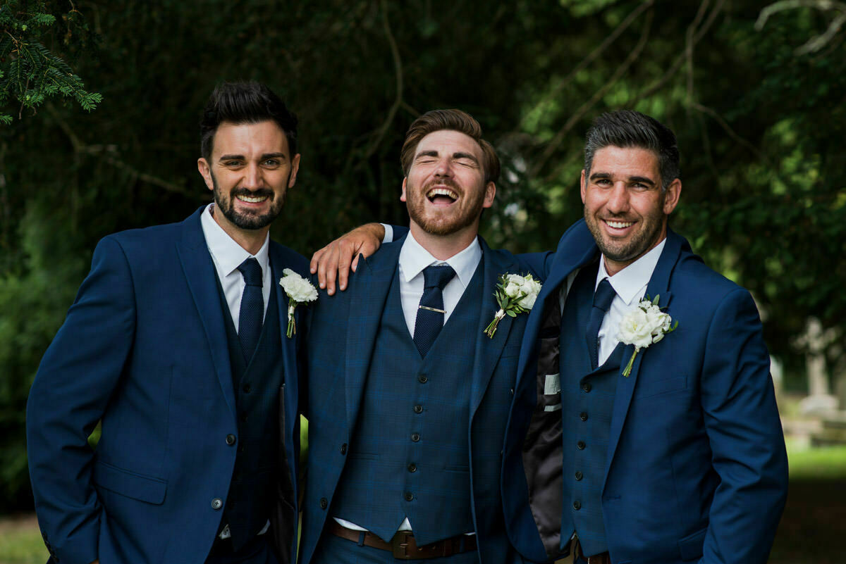 Laughter at wedding in Hereford
