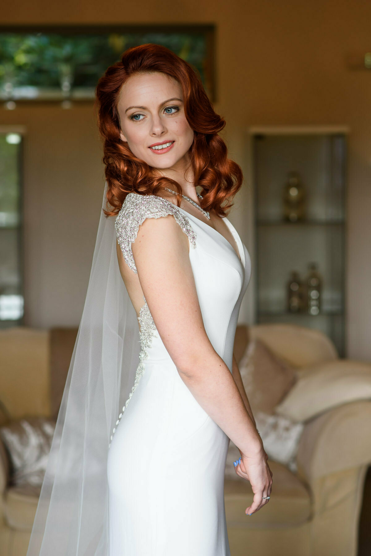 Beautiful bride at Lemore Manor Hen house
