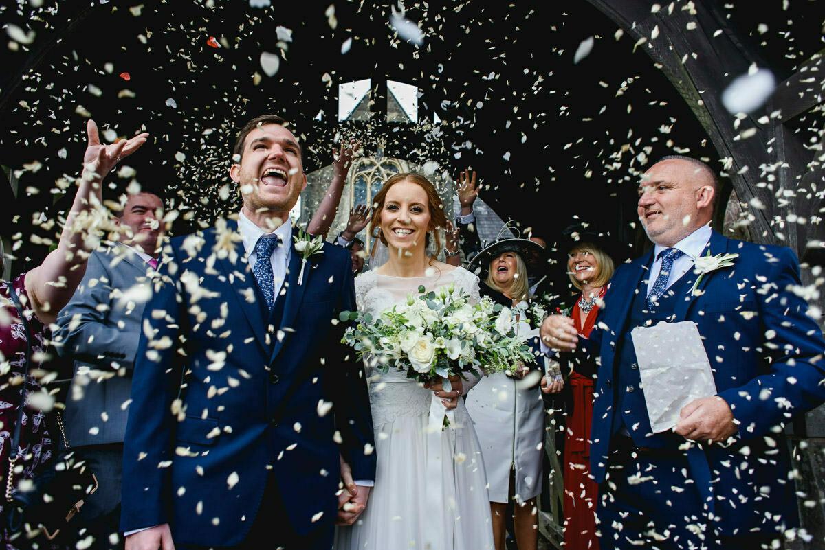 Cardiff wedding photographer, confetti shot