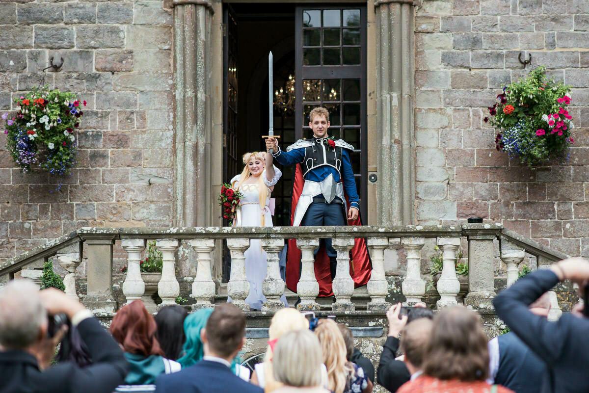 Clearwell castle wedding, Sailor moon theme