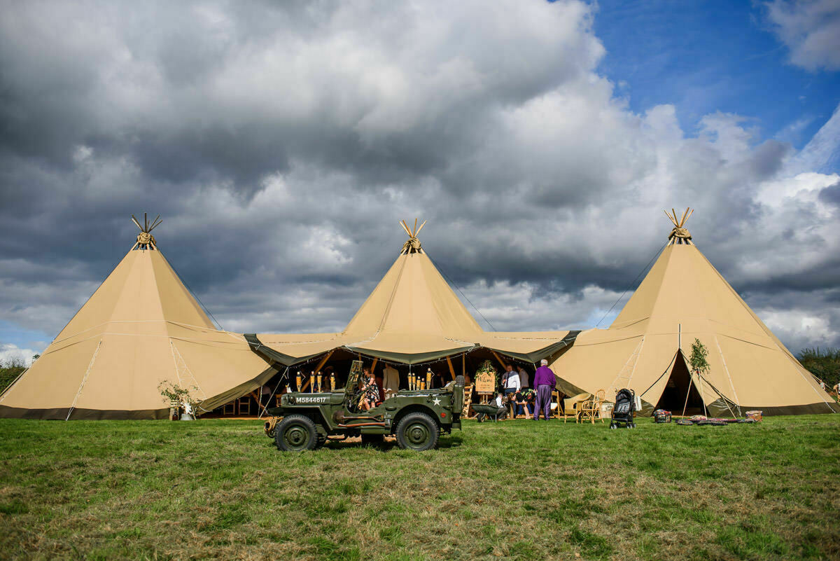 Tipi wedding Herefordshire