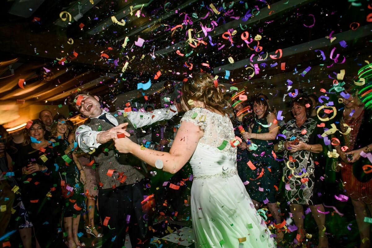 Confetti on the dance floor, Brinsop Court
