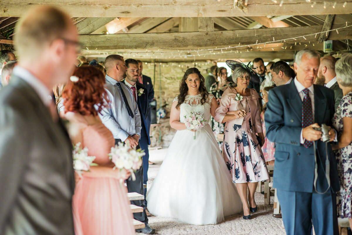 Bride entrance Lyde court wedding