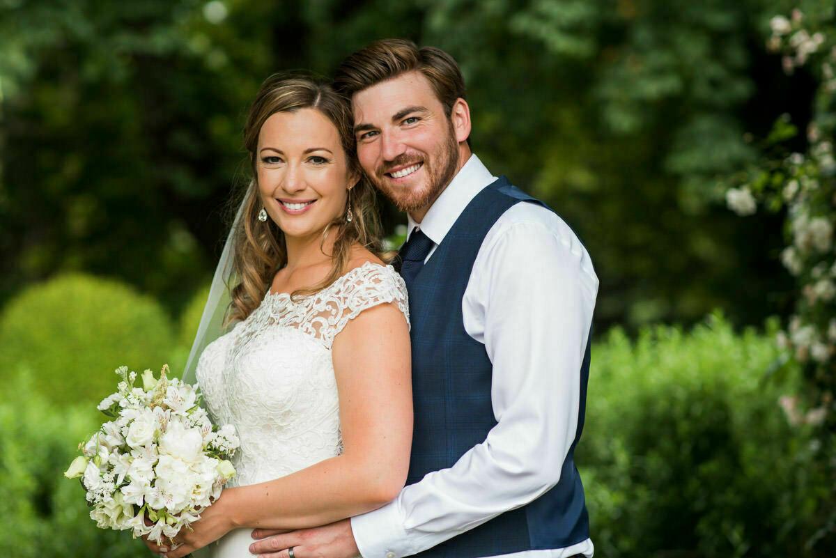 Bride and Groom portrait at Brobury House wedding