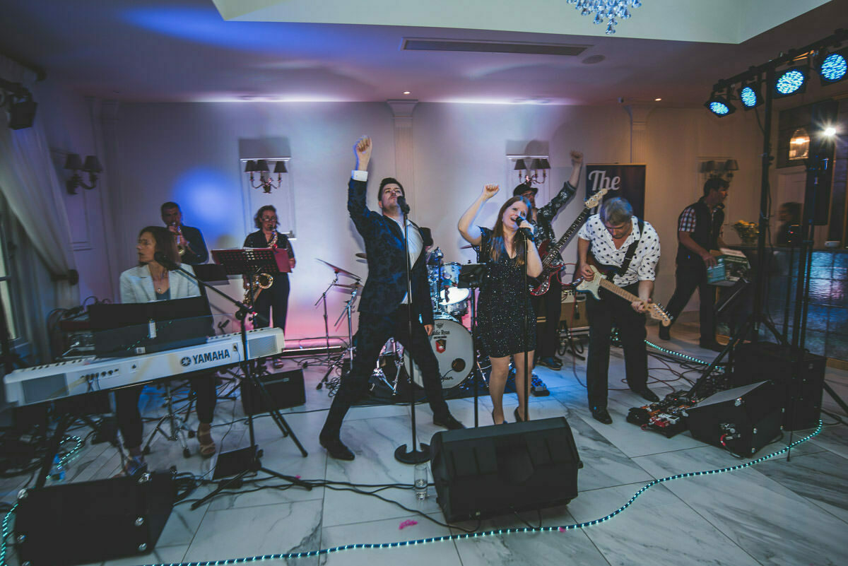 The Hey Yahs wedding band at Lemore Manor