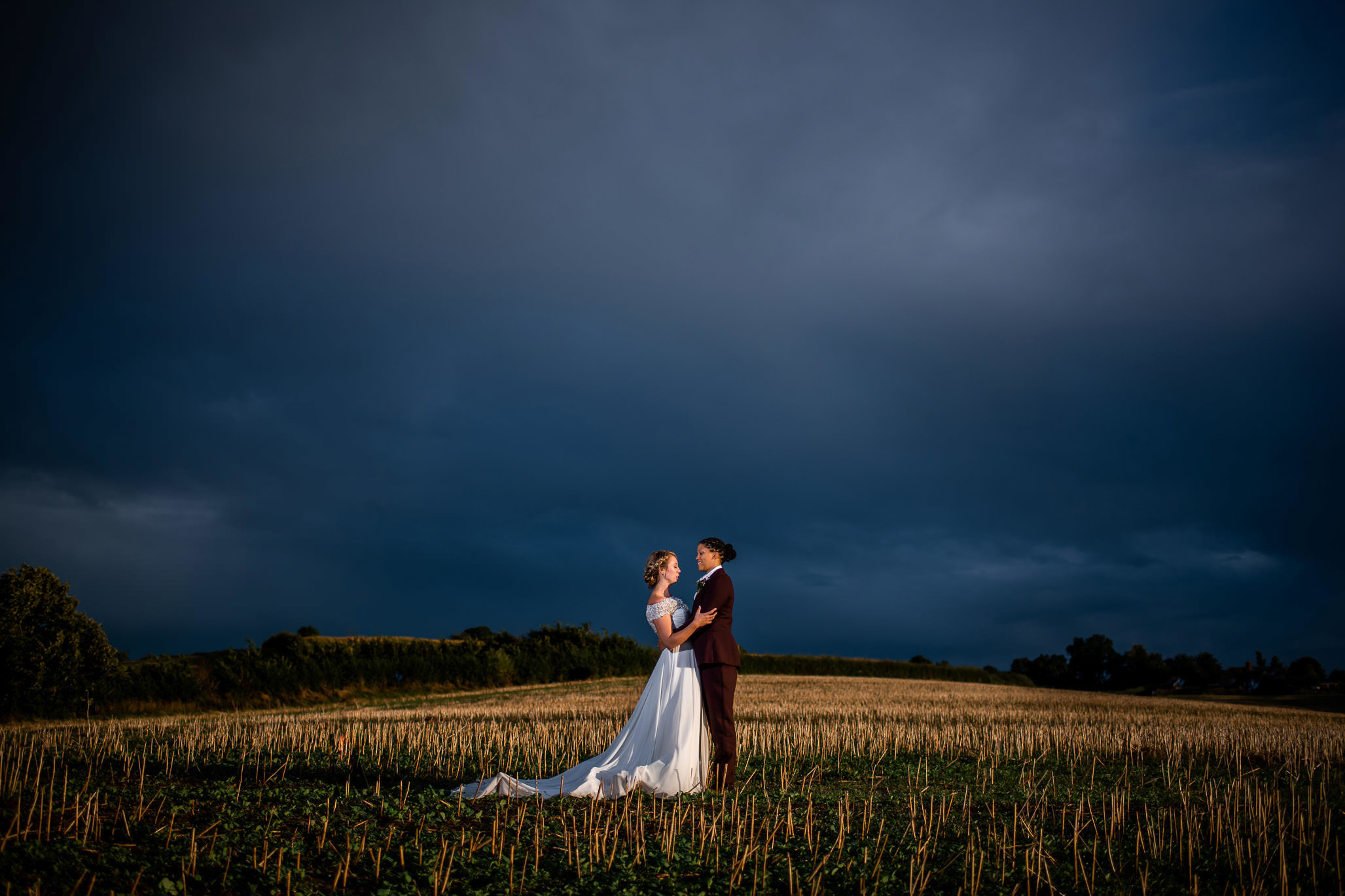 Lyde court barns wedding