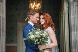 Bride and groom at Lemore Manor