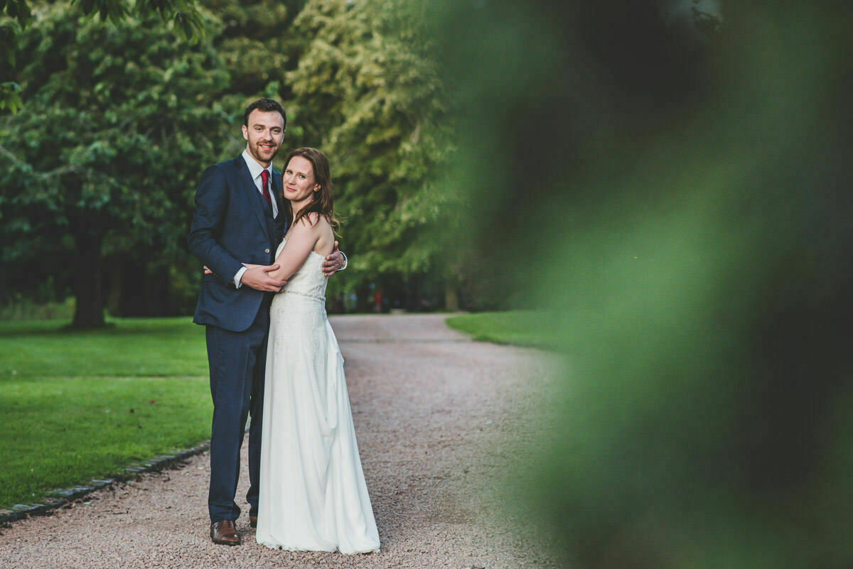 Dewsall Court bride and groom