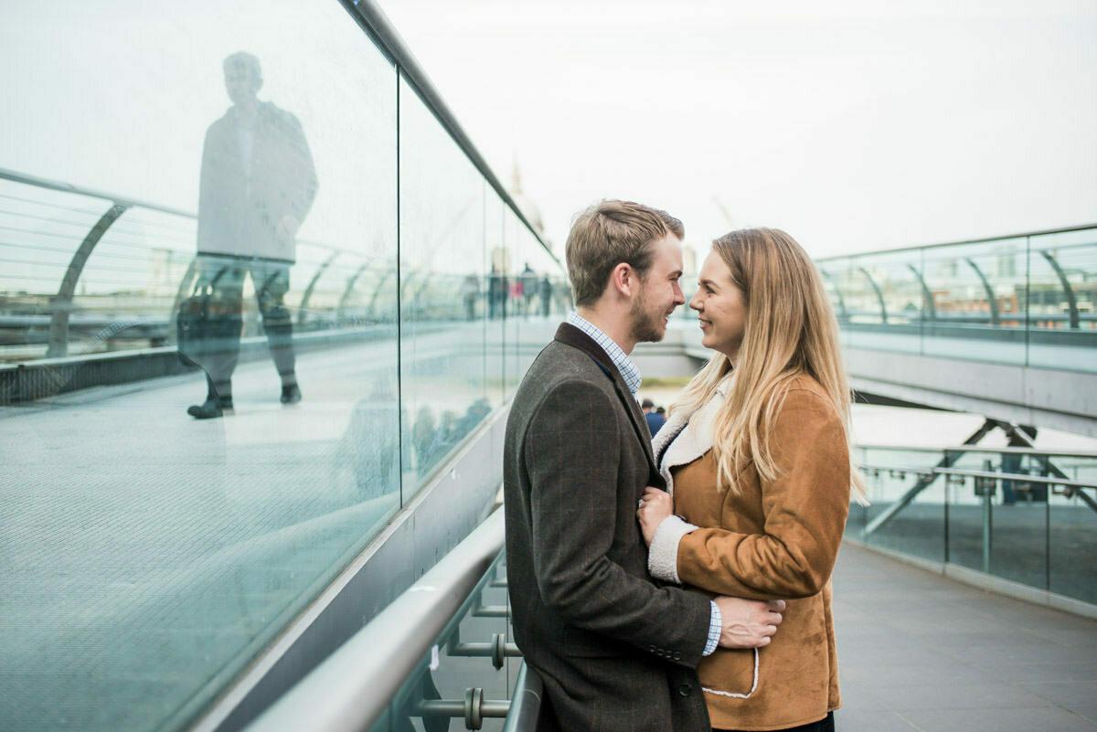 Millennium bridge engagement shoot London
