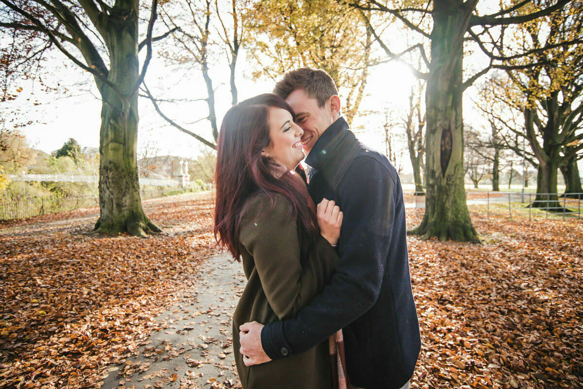 Autumn engagement shoot Hereford