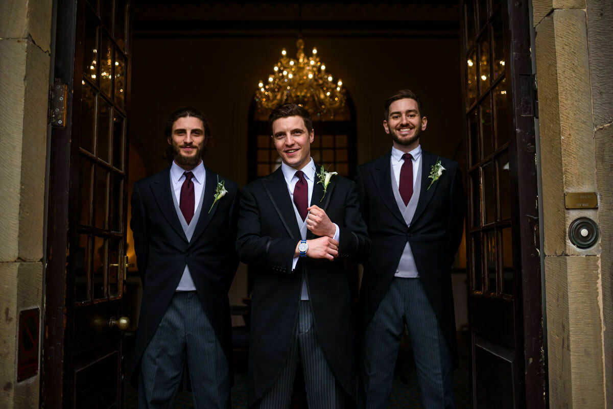 Groomsmen at Clearwell castle