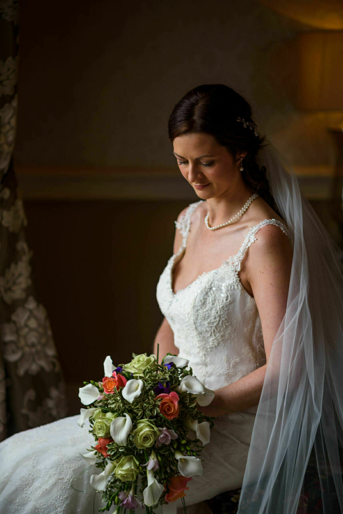 Bridal prep at Clearwell castle