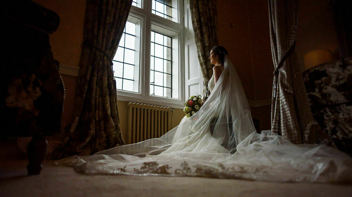 Bride at Clearwell castle wedding