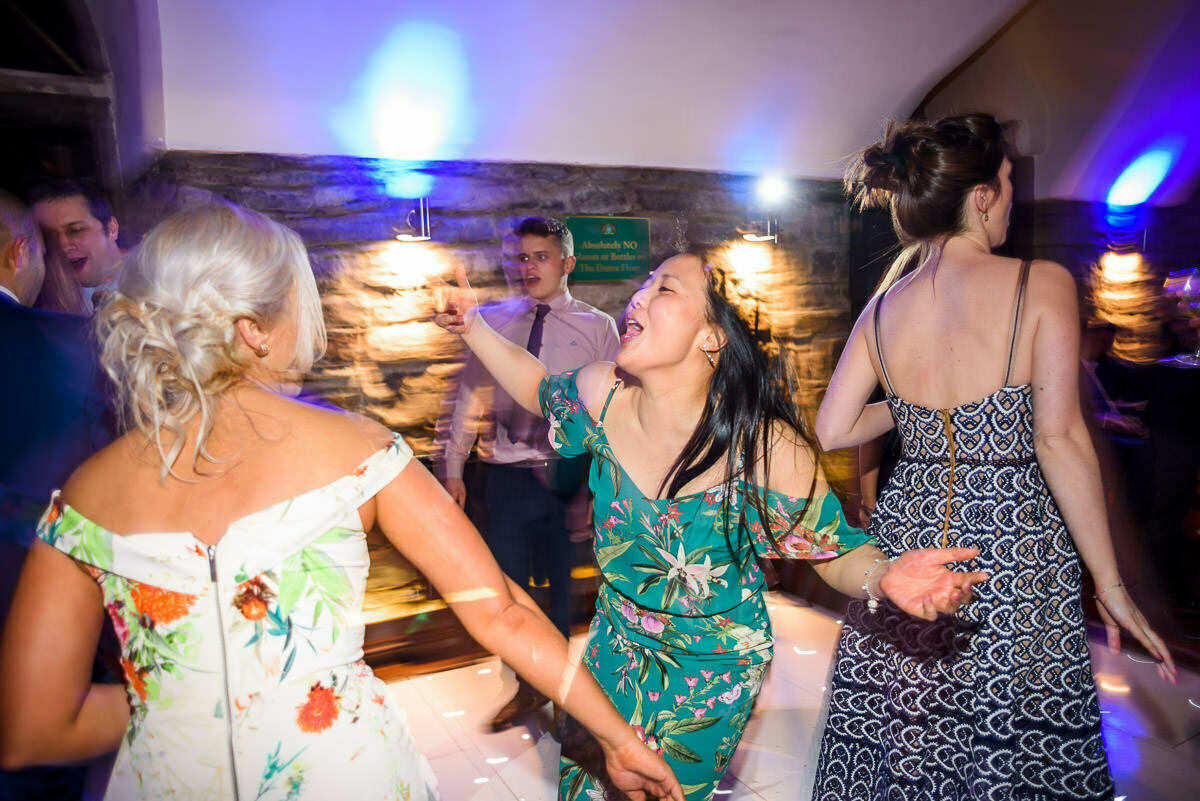 Dance floor action at clearwell castle