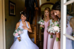 Bride and Bridesmaids at Lyde Arundel wedding