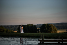 Bride and Groom portrait Herefordshire wedding