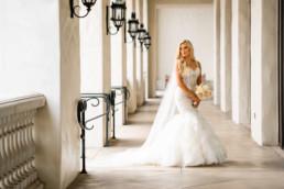 Bride at Huntington Beach wedding