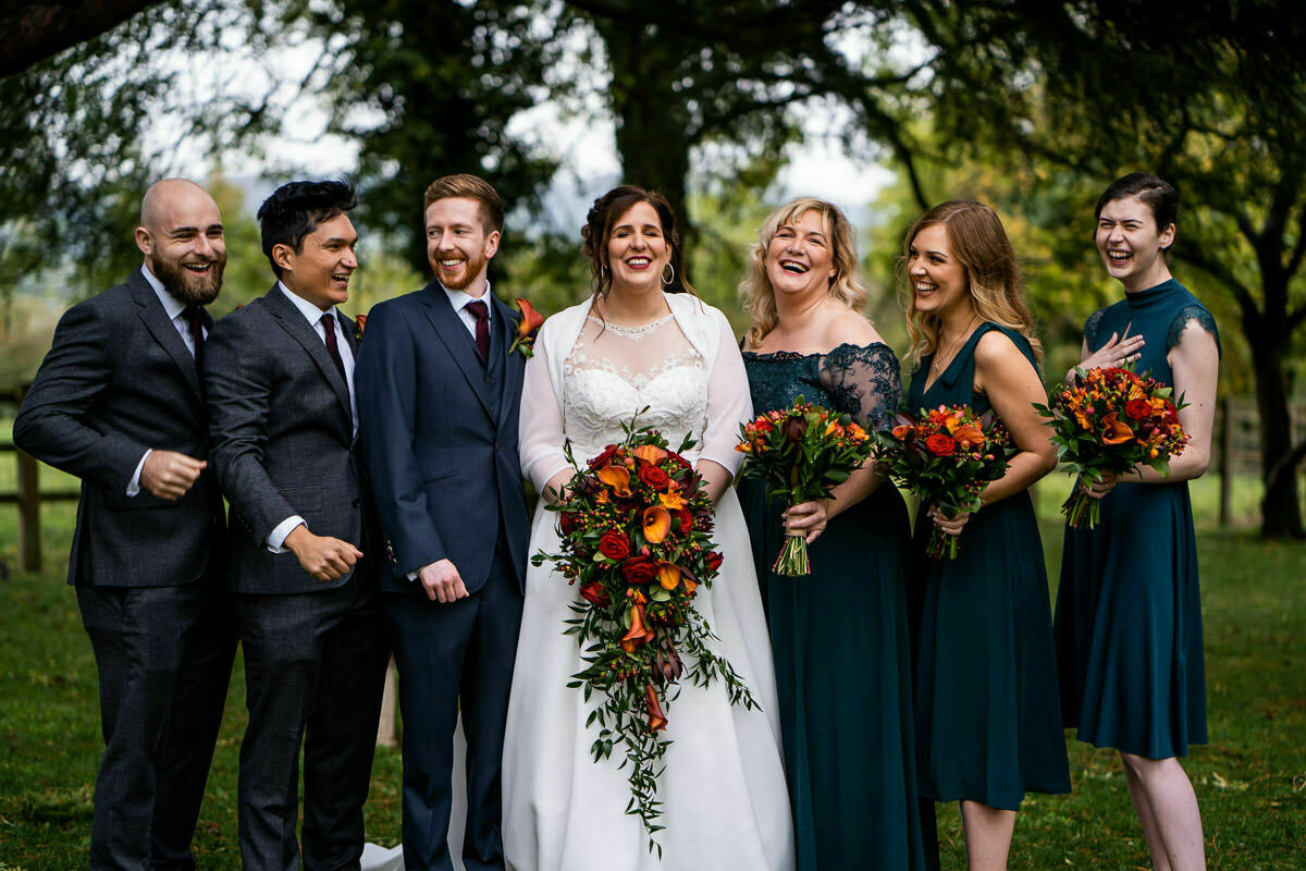 Gloucestershire wedding party